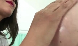 Mature femdom tit fellow-feeling a amour and tug