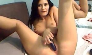 Masturbation after academy by naughty Maria