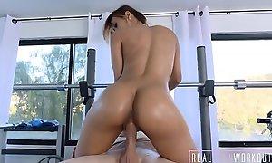 Sexy Latin chick Teen Demi Lopez Callisthenics Fuck