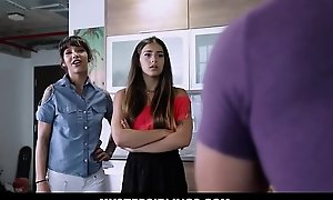 One Hot Teen Latina Step Sisters Kitty Carrera coupled with Sofie Reyez Threesome With Marketable Step Fellow-citizen