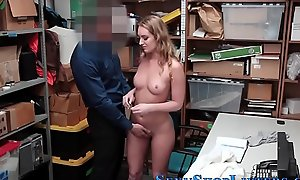 Teen shoplifter plowed