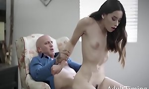 Old Man Blackmailed By His Teen Mistress- - Aria Lee