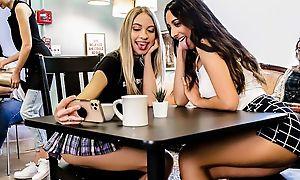 One kinky establishing girls enjoying each other's company