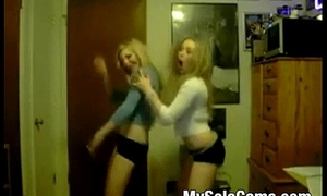 Two teen dancing