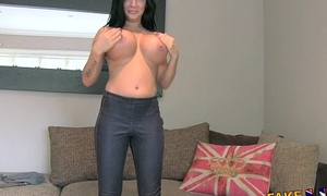 FakeAgentUK Weighty big tits young porn wannabe goes enclosing make an issue of showing in casting