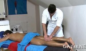 Massaging young hard schlong