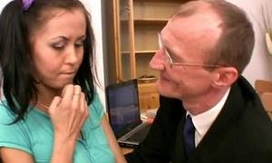 Prankish teacher reduce to nothing student