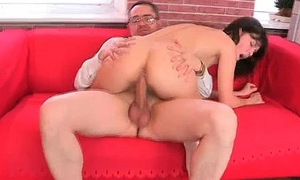 Awesome brunette hoe gets fucked constant