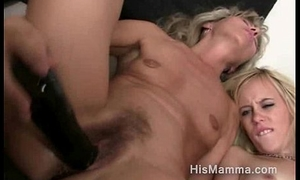 Teen unfocused seduced by her bfs materfamilias