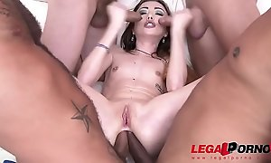 Super Micro intense nympho Jessi Empera 5on1 extreme ganbang drenched with Cum!