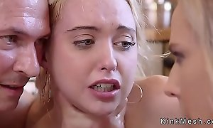 Teen added to Milf in the quality serfdom waxing added to fucking