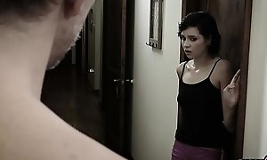 Babysitter teen fucked away from the frightful Poetic dads huge boo-boo