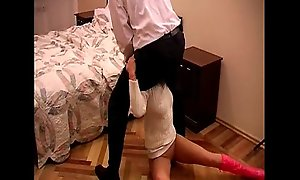 Dorsum behind blonde lawful age teenager in an intensive vigour dear two i...