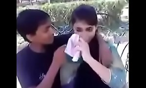 Indian teen kissing plus beyond hope boobs approximately stage a revive