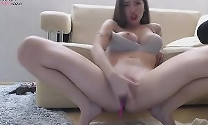 Cute Brunette Teen Plays With Pussy And Nuisance On Webcam