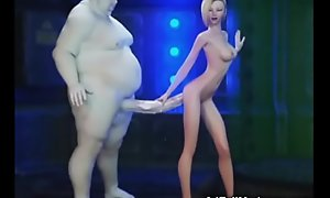 3D Big Aliens Make void Nutriment Teens!
