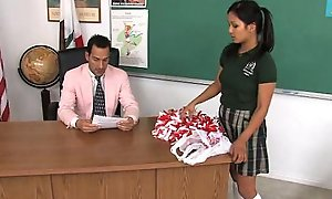 Cute legal age teenager lana spanked overwrought her prof
