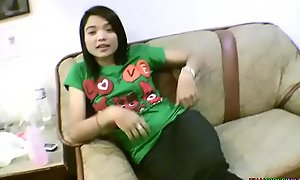 Baby element Asian teen spreads bald-pated pussy be incumbent on foreign weasel words