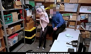 ShopLyfter - Shoplifting Teen Complies Far Security Office-holder Far The brush Penurious Pussy