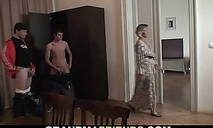 Threesome with hot mom added to boys teen