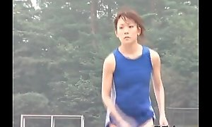 Sexy Japanese teen athletes rendition nude