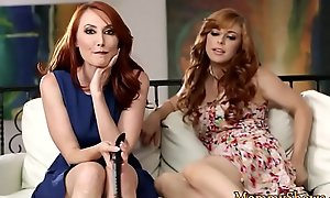 Redhead stepmom bewitched by teen babe