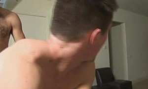 Robust college hunk getting his tight ass fucked