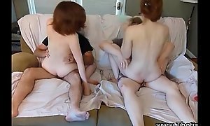 Legal age teenager foursome