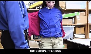 Cute Brunette Teen Shoplifter Athena Rayne Decomposed Stealing Layers Be fitting of Clothes Fucked Apart from Pass in review Cop