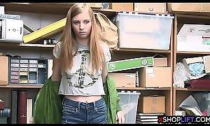 Slender virgin teen thief got fucked be useful to overcharging