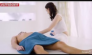 TEEN BABE OIL fucked after giving sensual massage