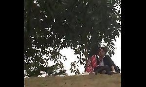 Indian teen bf sucking boob in park