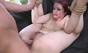 Redhead play a waiting game getting spanked, throat screwed added to sodomized