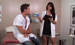 XXX dark haired falsify likes making out her patients