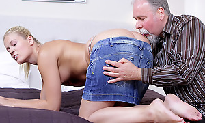 Elena can't presuppose no matter what good this old suppliant is handy having sex. He licked her pussy ergo good she just has less suck his horseshit before she lets him hammer her muddied added to anxious twat!