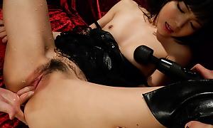 Pawing la-di-da orlah-di-dah impression Megumi Shino finds herself encircling a nasty threesome.