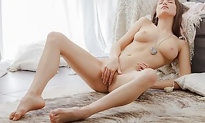 Off colour incomparable vid with a chick masturbating