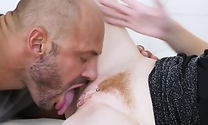 Pale-skinned vixen gets properly fucked in an obstacle breathing room