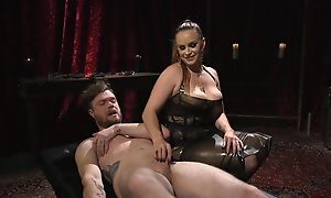 Submissive guy gets anally fucked by horny mistress