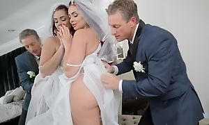 Anxious board fucks his daughter-in-law before wedding