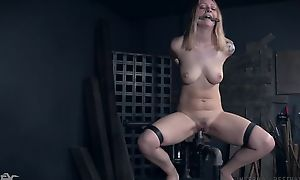Tattooed sub with regard to natural breasts getting abused