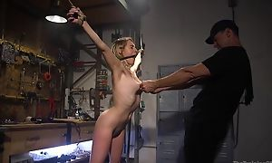 Bounce sub with on the up boobs gets roughly fucked by her master